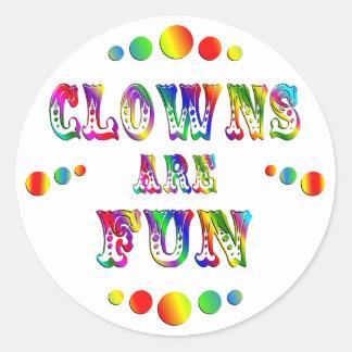 Clowns are Fun Classic Round Sticker