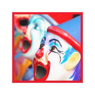clowns at the amusement park canvas