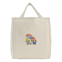 Clowns Embroidered Tote Bag
