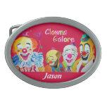 Clowns Galore Buckle Oval Belt Buckle