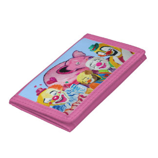 Clowns Galore Pink Elephant Wallet