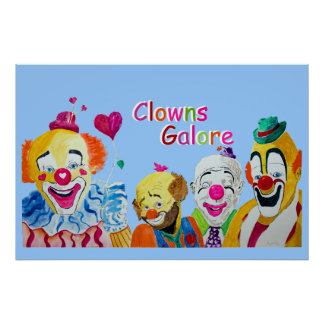 Clowns Galore Poster