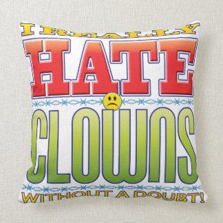 Clowns Hate Face Throw Pillows