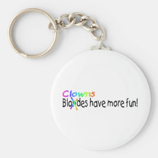 Clowns Have More Fun Keychain