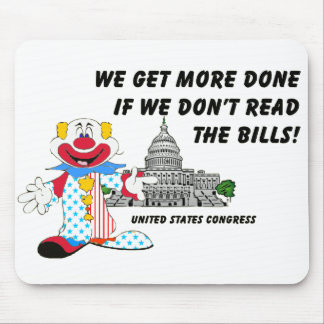 Clowns in Congress Mouse Pad