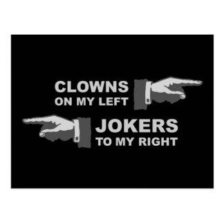 Clowns & Jokers Postcard
