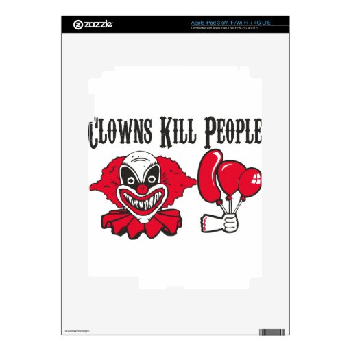Clowns Kill People Decals For iPad 3