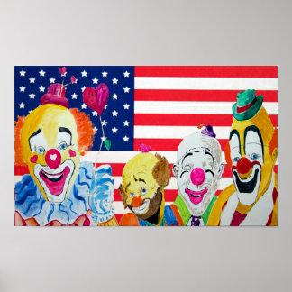 Clowns Love America Print