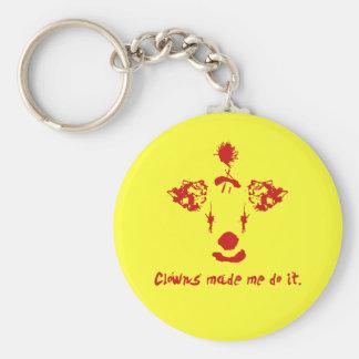 Clowns Made Me Do It Basic Round Button Keychain