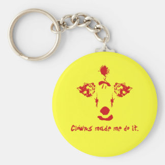 Clowns Made Me Do It Basic Round Button Keychain