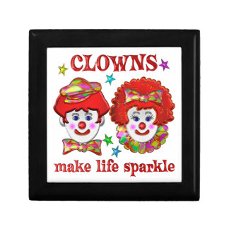 Clowns Make Life Sparkle Keepsake Boxes