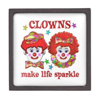Clowns Make Life Sparkle Premium Keepsake Box