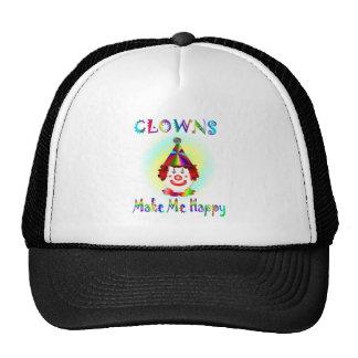 Clowns Make Me Happy Hats