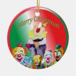 Clowns Merry Christmas Ornament
