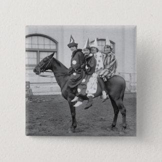 Clowns on a Horse, 1915 Pinback Button