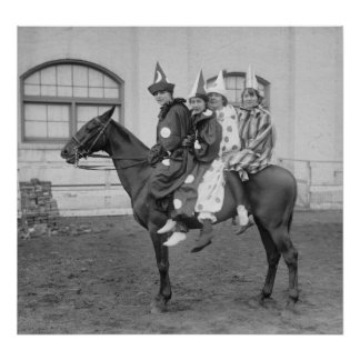 Clowns on a Horse, 1915 Poster