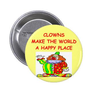 clowns pinback button