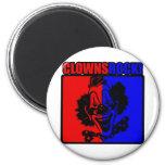 Clowns Rock! Fridge Magnets