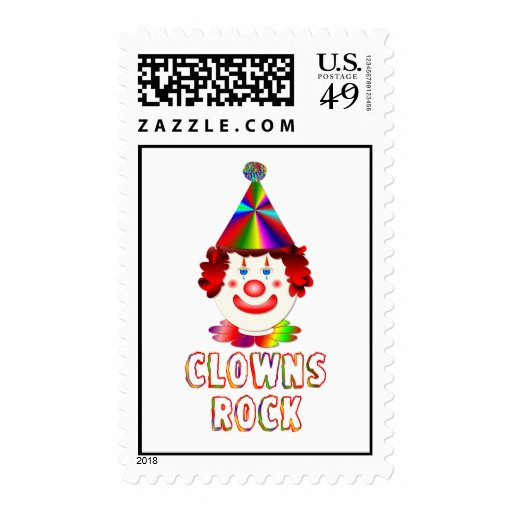Clowns Rock Stamps