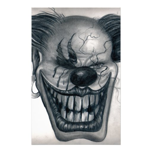 clowns stationery design