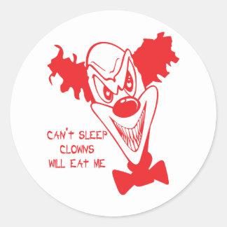 Clowns Will Eat Me Stickers/Envelope Seals Round Sticker