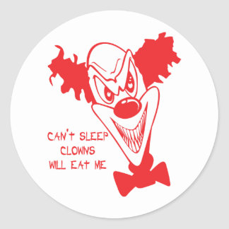 Clowns Will Eat Me Stickers/Envelope Seals Classic Round Sticker