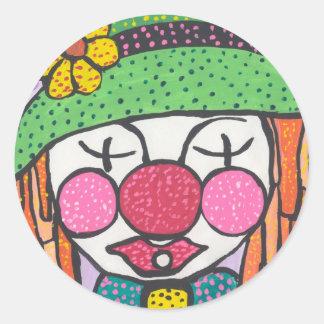Clowny Sticker Round Sticker