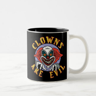 Clows are Evil Two-Tone Mug