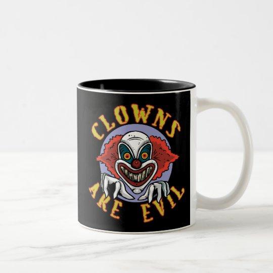 Clows are Evil Two-Tone Mug