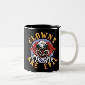 Clows es taza malvada del Dos-Tono