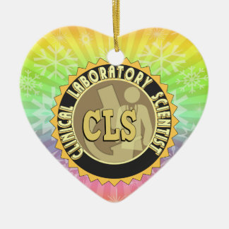 CLS BADGE - CLINICAL LABORATORY SCIENTIST CERAMIC ORNAMENT