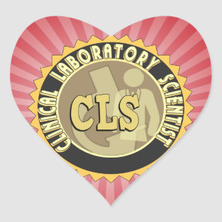 CLS BADGE - CLINICAL LABORATORY SCIENTIST HEART STICKER