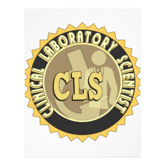 CLS BADGE - CLINICAL LABORATORY SCIENTIST CUSTOMIZED LETTERHEAD