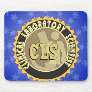 CLS BADGE - CLINICAL LABORATORY SCIENTIST MOUSE PAD