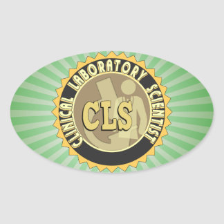 CLS BADGE - CLINICAL LABORATORY SCIENTIST OVAL STICKER