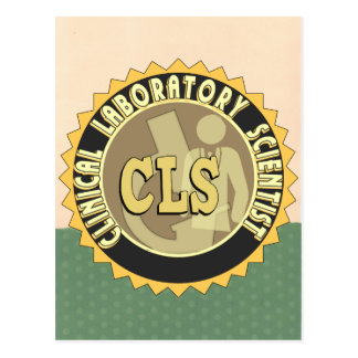CLS BADGE - CLINICAL LABORATORY SCIENTIST POSTCARD