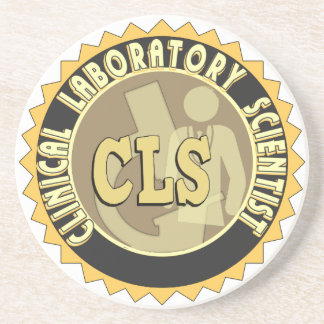 CLS BADGE - CLINICAL LABORATORY SCIENTIST SANDSTONE COASTER