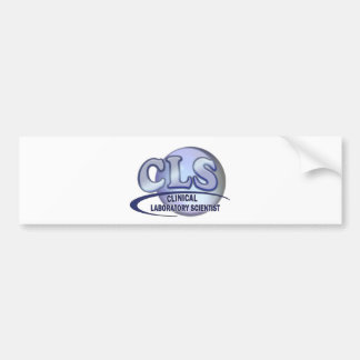 CLS FunBlue LOGO - CLINICAL LABORATORY SCIENTIST Bumper Sticker
