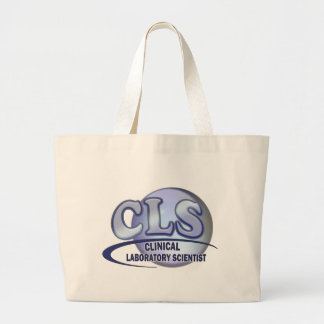 CLS FunBlue LOGO - CLINICAL LABORATORY SCIENTIST Large Tote Bag