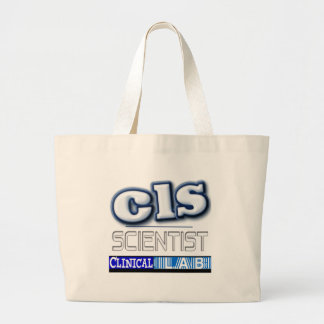CLS LOGO - CLINICAL  LABORATORY SCIENTIST CANVAS BAGS