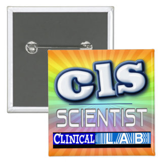 CLS LOGO - CLINICAL  LABORATORY SCIENTIST BUTTON