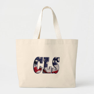 CLS PATRIOT USA FLAG - CLINICAL LAB SCIENTIST LARGE TOTE BAG