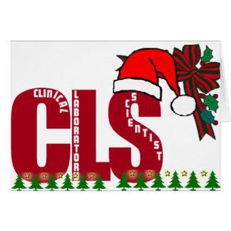 CLS SANTA  CHRISTMAS CLINICAL LAB SCIENTIST CARD