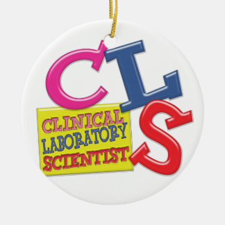 CLS WHIMSICAL  CLINICAL LABORATORY SCIENTIST CERAMIC ORNAMENT