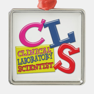 CLS WHIMSICAL  CLINICAL LABORATORY SCIENTIST METAL ORNAMENT