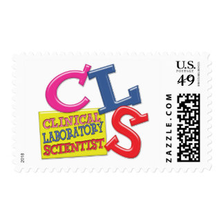 CLS WHIMSICAL  CLINICAL LABORATORY SCIENTIST POSTAGE STAMP