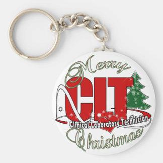 CLT CHRISTMAS Clinical Laboratory Technician Keychain