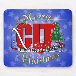 CLT CHRISTMAS Clinical Laboratory Technician Mouse Pad
