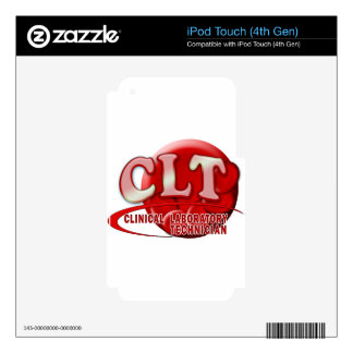 CLT CLINICAL LABORATORY TECHNICIAN SWOOSH LOGO iPod TOUCH 4G DECALS