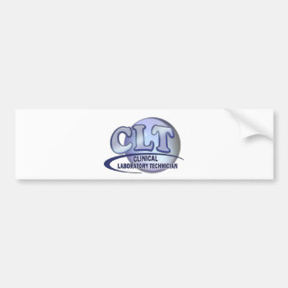 CLT FunBlue LOGO - CLINICAL LABORATORY TECHNICIAN Bumper Stickers